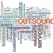 Wordcloud of outsourcing — Stock Photo #11560187