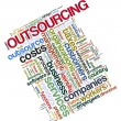 Outsourcing tags — Stock Photo