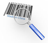 Magnifier and made in china — Stock Photo