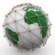 Stock Photo: 3d global network
