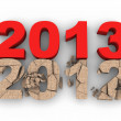 2013 over 2012 — Stock Photo