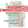 Business administration word tags — 图库照片