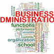 Business administration word tags — Stock fotografie