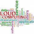 Cloud computing word tags — 图库照片