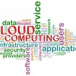 Cloud computing word tags — Stock Photo