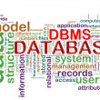 Word tags of dbms — Stockfoto