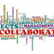 Collaboration word tags — Stock Photo #11747927