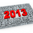 3d year 2013 — Stock Photo #11747997