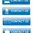 Contact us buttons — Stockfoto #11748033