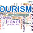 Tourism word tags — Stock Photo