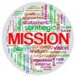 Stock Photo: Mission word tag