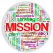 Foto Stock: Mission word tag