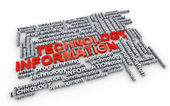 Word tags of information technology — Stock Photo