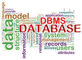 Word tags of dbms — Stock Photo