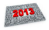 3d jahr 2013 — Stockfoto