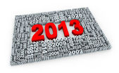 3d year 2013 — Stock fotografie