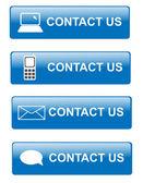 Neem contact op met ons knoppen — Stockfoto