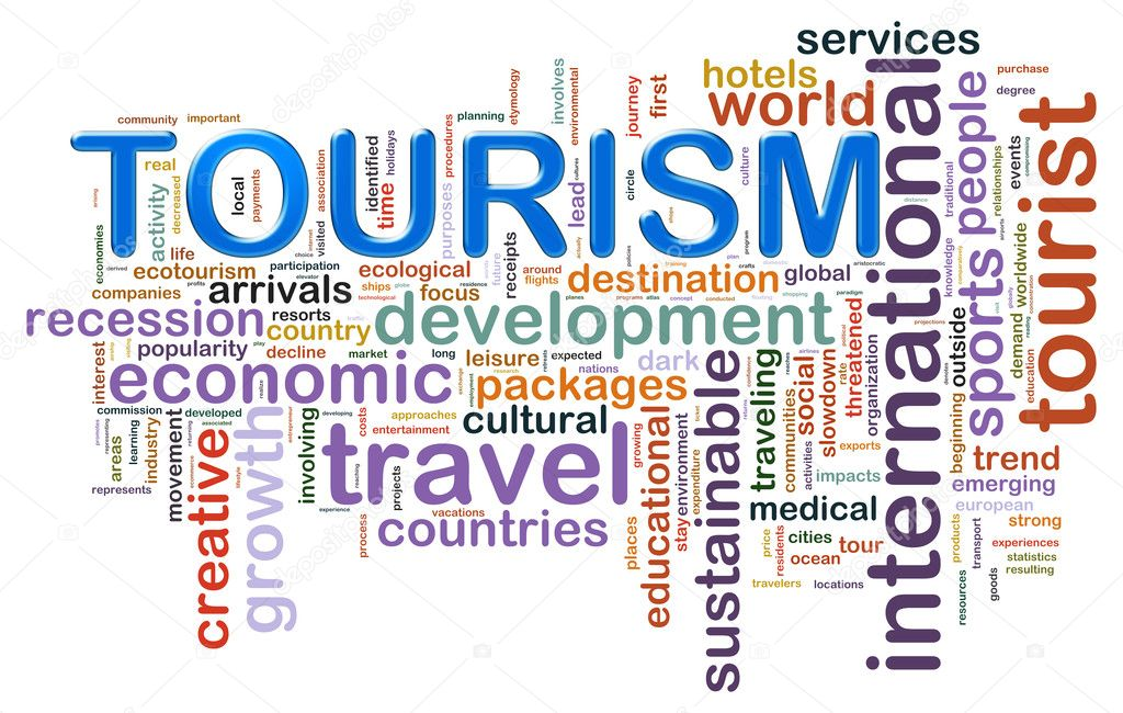 Illustration of wordcloud representing concept of tourism — Stock Photo #11748058