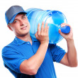 Bottled water delivery service  — Stockfoto