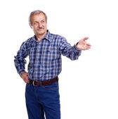 Aged man — Stock Photo