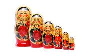 Matrioshka doll isolated on white — Stock Photo
