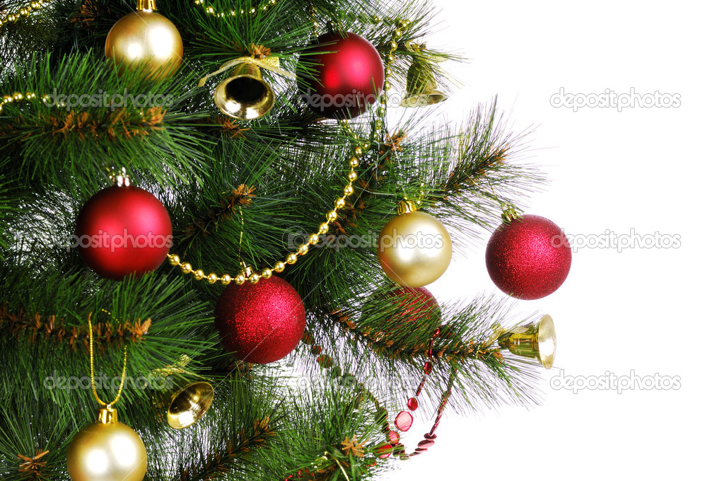 Christmas tree on white — Stockfoto #12219641