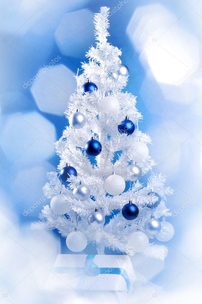 White Christmas tree  Stock Photo #12219686