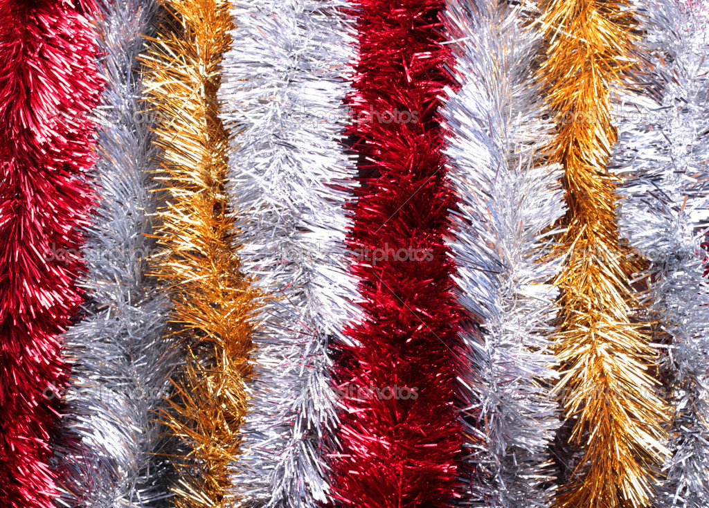 New Year tinsels of different colors — Stock Photo #11962919
