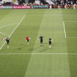 Warm up the England goalkeepers - Stock Photo