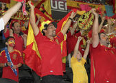 Spanish national team fans — Stock Photo