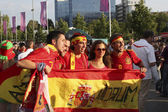 Spanish fans in Donetsk — Stock Photo