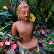 Buddha, zen garden — Stock Photo