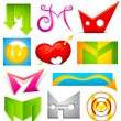 Different Icon with alphabet M — Image vectorielle