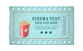 Movie Ticket — Stock Vector