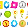 Different Icon with alphabet O — Stock Vector #10751551