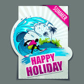 Happy Holiday — Stock Vector