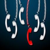 Récepteur de téléphone rouge — Vecteur