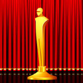Premio dorato — Vettoriale Stock