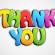 Vector de stock : Colorful Thank You