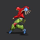 跳舞时髦的家伙 — 图库矢量图片