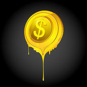 Melting Dollar — Stockvector