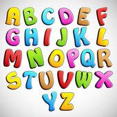 Colorful Alphabet — Stock Vector