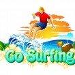 Go Surfing Campaign — Stock Vector