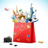 Paquete de vacaciones — Vector de stock