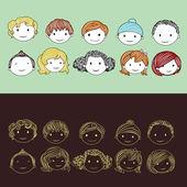 Head of Kids — Stock Vector
