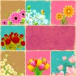 Flower Collage - Stock Vector