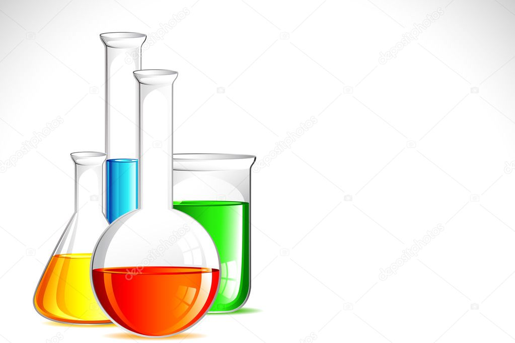 Illustration of laboratory apparatus with colorful solution — Stock Vector #10994200