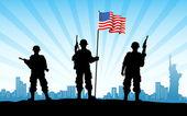 Armée américaine avec indicateur — Photo