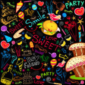 Colorful Food Party — Stock Photo