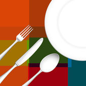 Cutlery with Dish — Stock Photo